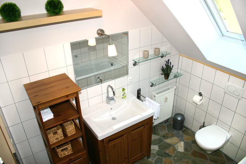 bright and sunny bathroom