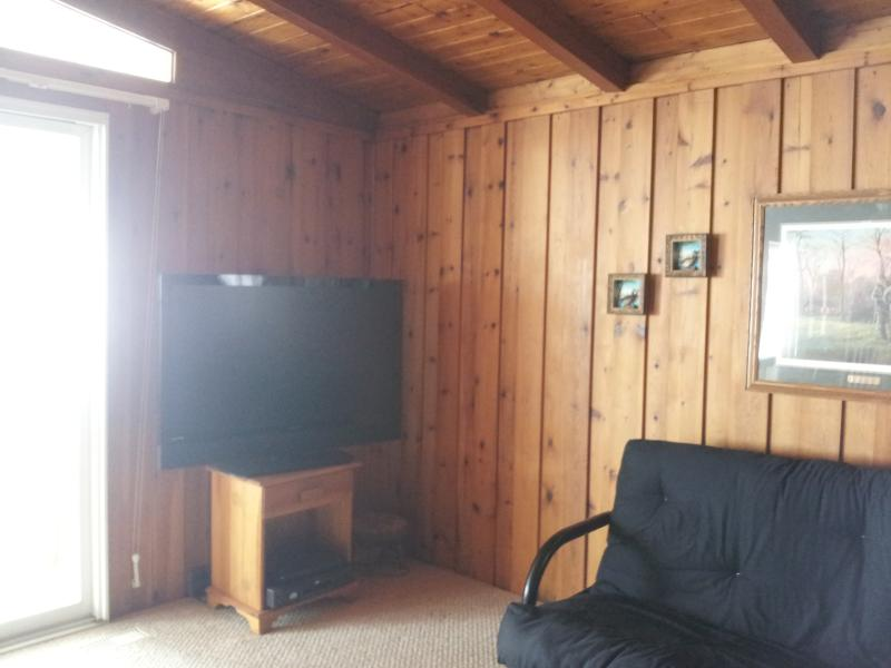 Cottage Livingroom with Big Screen TV & DVD Player