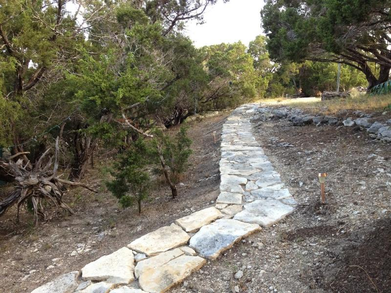Stone pathway from Cottage to lookout point. Incredible views.