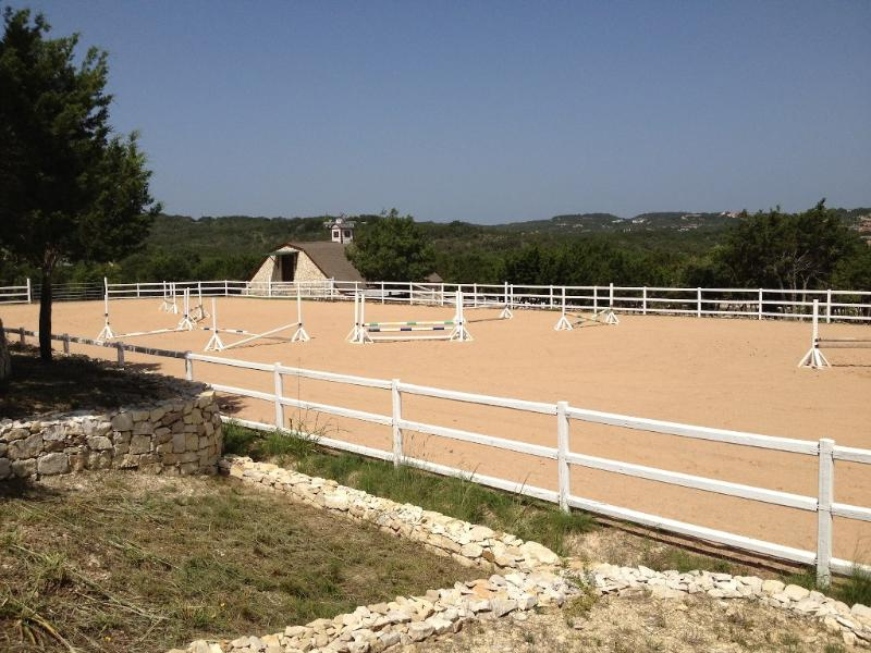 Ranch estate Equestrian Arena where guests often get to observe the horses and/or training riders