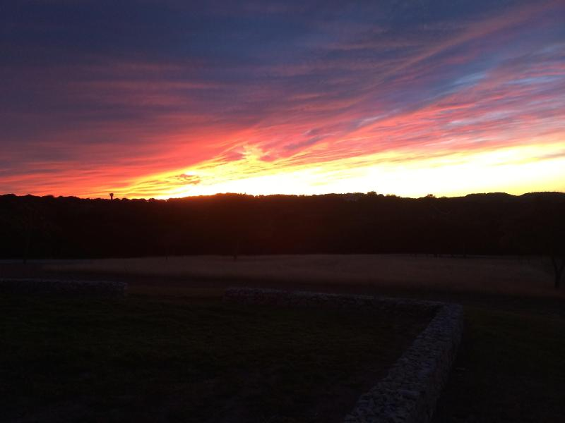 Did we mention the sunsets that guests often experience from the Storybook cottage porch?