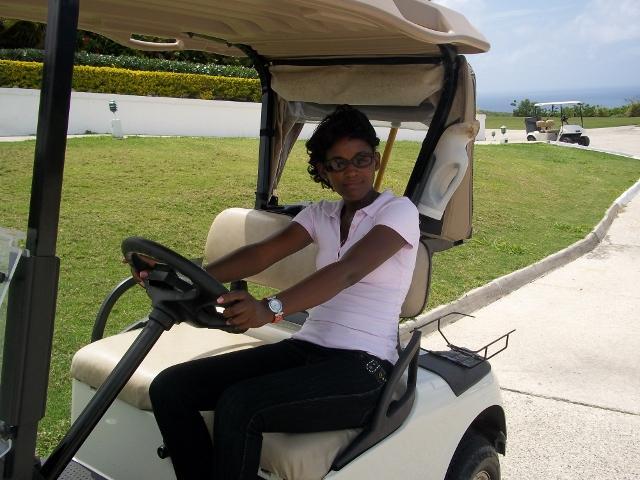 Club de golf diversión carro bajo el sol! 5min