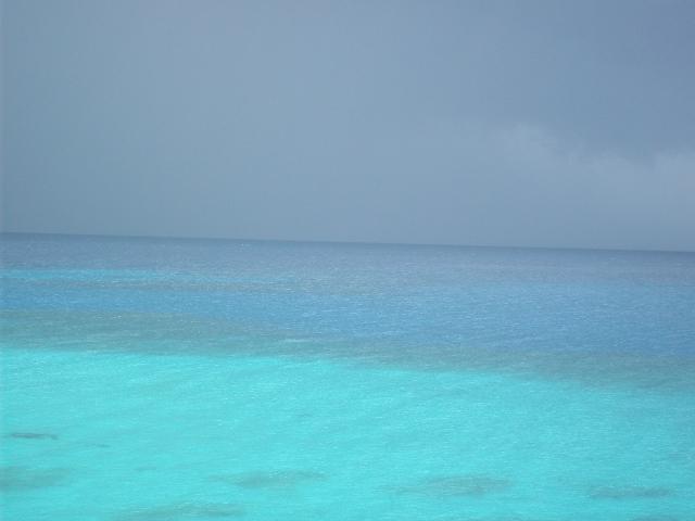 Vista del mar Caribe