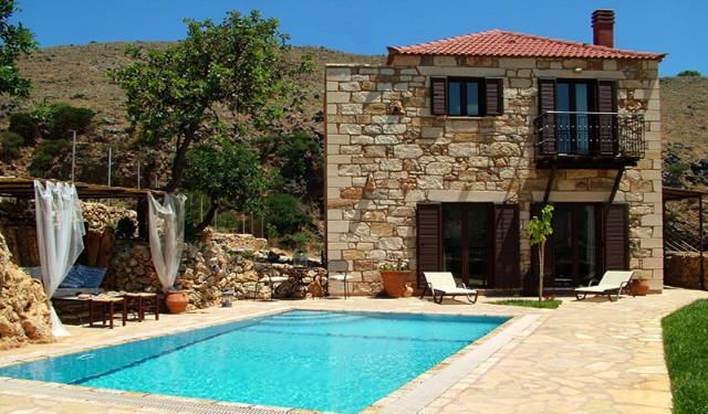 Experience villas Katerina private with sea  views, vacation rental in Exopoli
