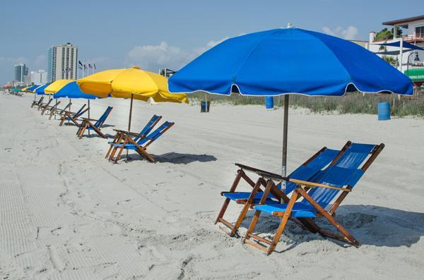Beach Chair and Umbrella rental available all across the beach
