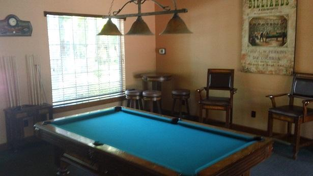 Billiards lounge in clubhouse
