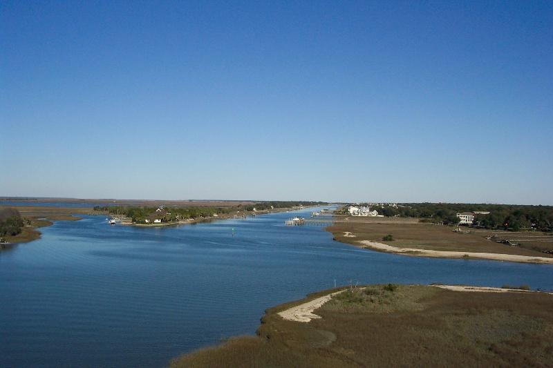 Cross the beautiful InterCoastal Waterway onto Isle of Palms