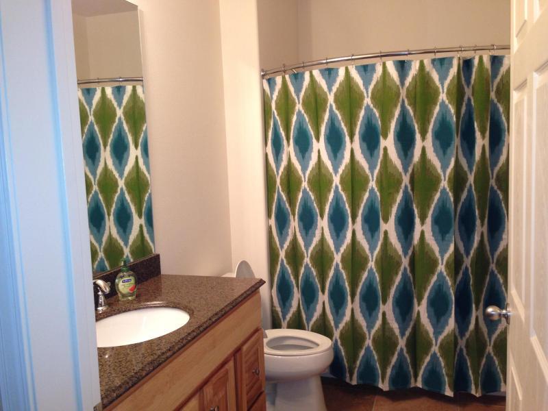 Guest Bathroom with granite countertops