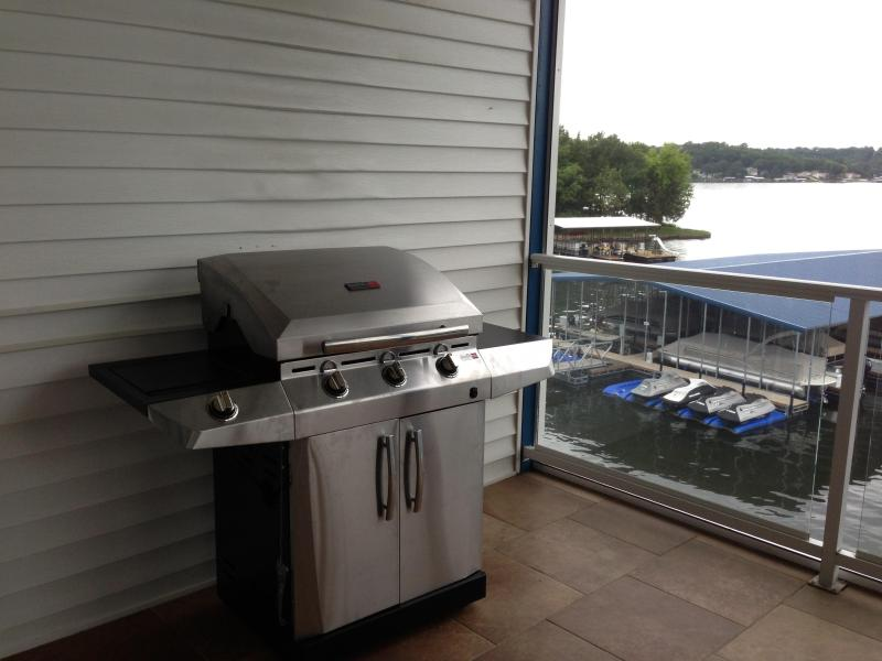 Grill on the screened in porch for a great cookout!