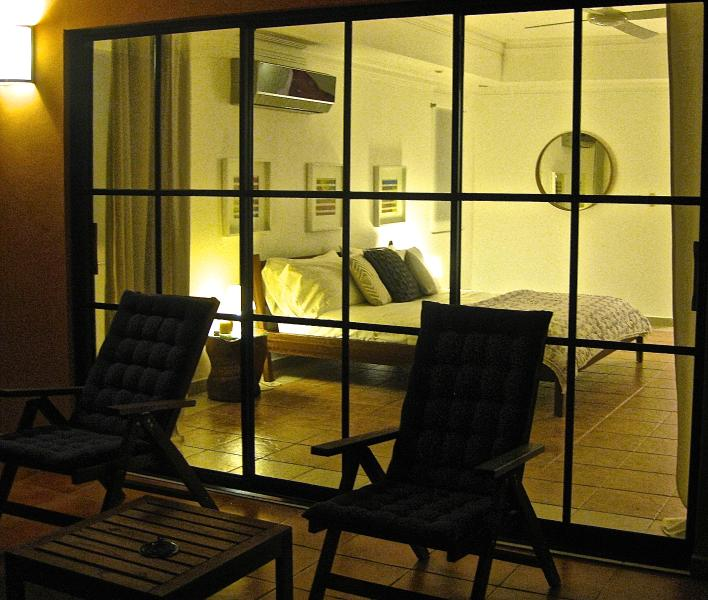 View of the Master Suite from terrace at Night