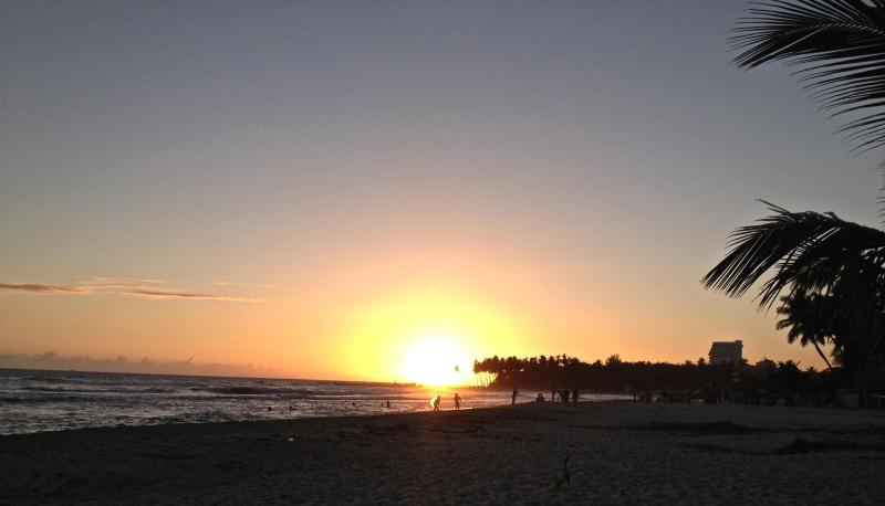 Sunset at Juan Dolio Beach ( 5 minutes by car )