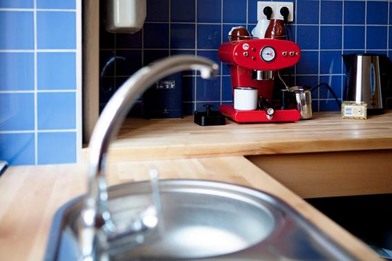 Kitchen with Italian Coffee Machine