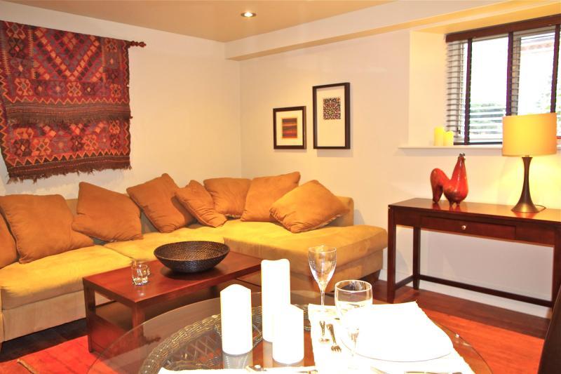 Acogedora decoración y mobiliario contemporáneo