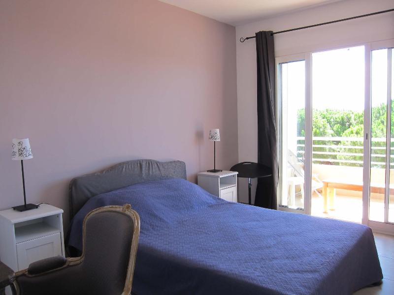 Bedroom overlooking the terrace