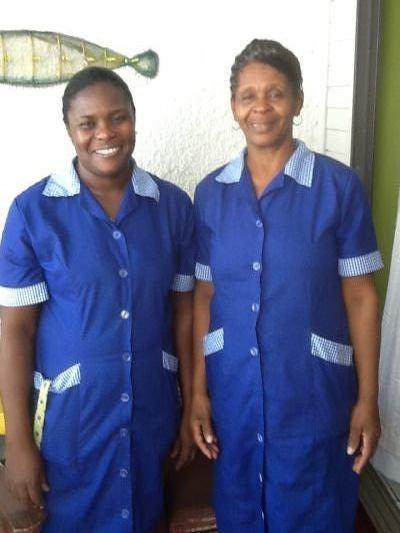 Our housekeepers: Cathy (left) and Charmaine (right)