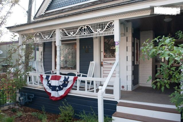 Front of House during July 4th