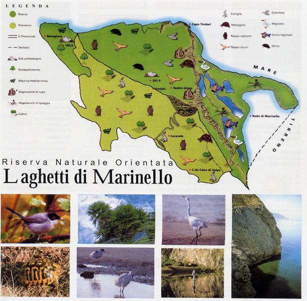 Mapa de la reserva natural de Marinello, cerca del apartamento