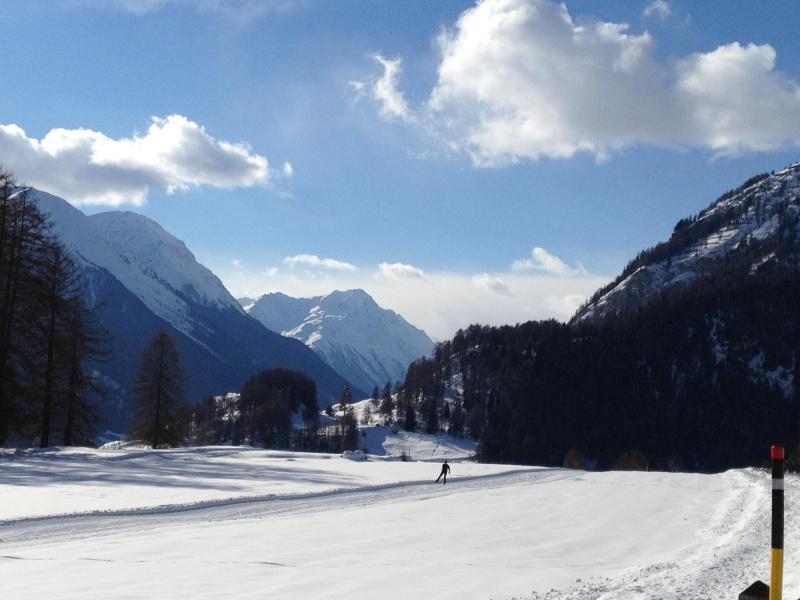 Pistas de esquí de fondo en Ftan cerca de Guarda