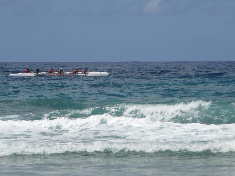 paddlers passing by