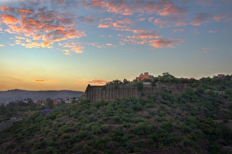 Final del día en un viejo castillo Español