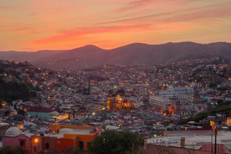 Típico atardecer Guanajuatoan
