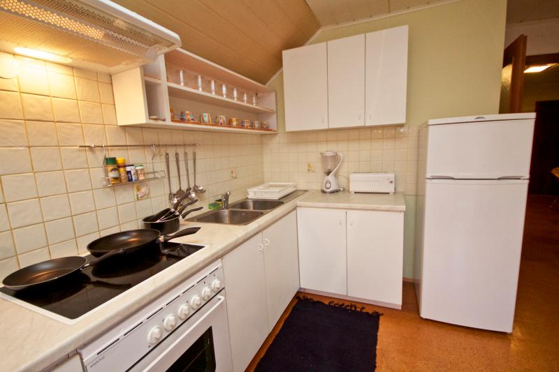 Fully furnished and functioning kitchen with many appliances (toaster, kettle&microwave added later)