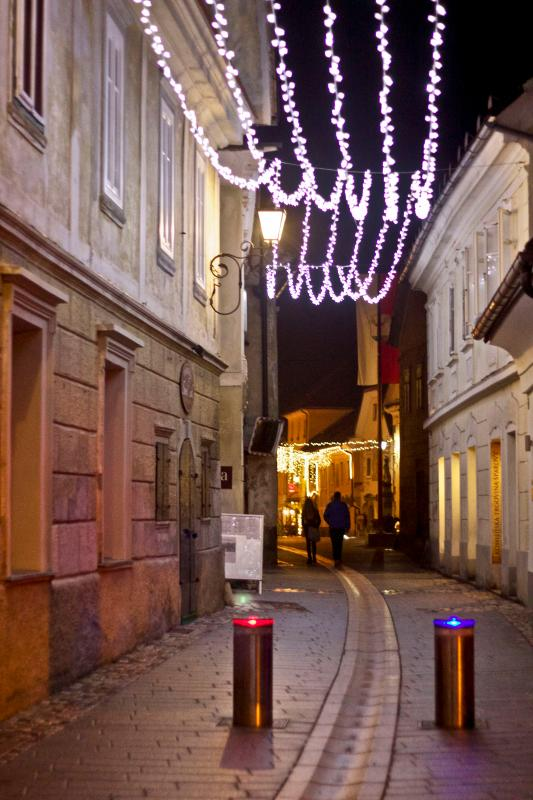 Medieval city center (old town) of Radovljica, 10 min. walk from the apartment