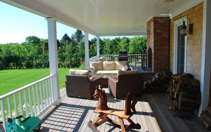Outdoor living area & rocking horse