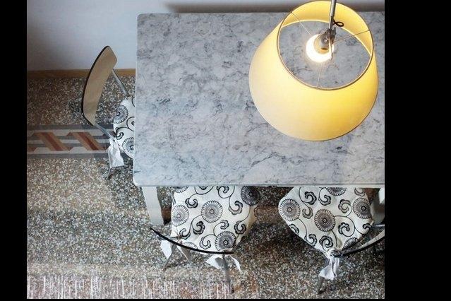 Grandmas' original marble table, great for making fresh home-made pasta!