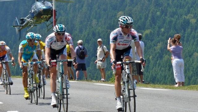 The Tour De France on col D'Aspin