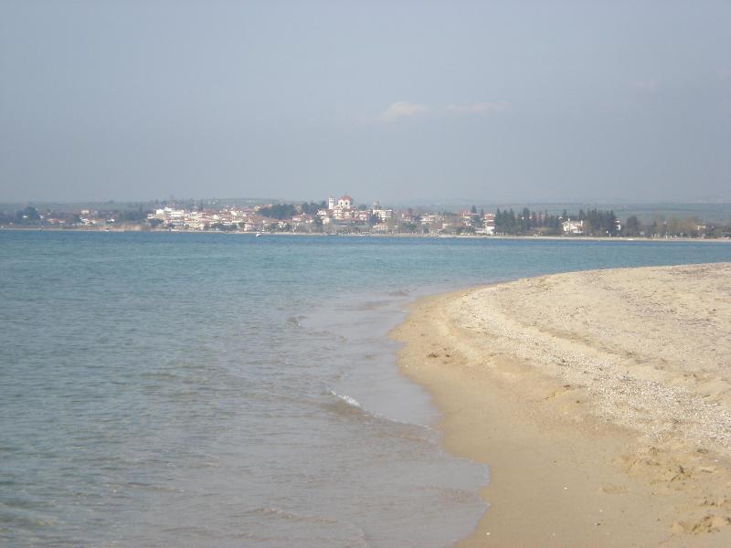 the the beautyfull large sandy beach