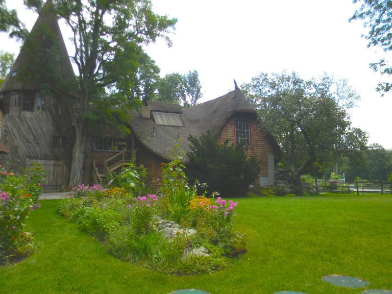 Vista al jardín de la torre