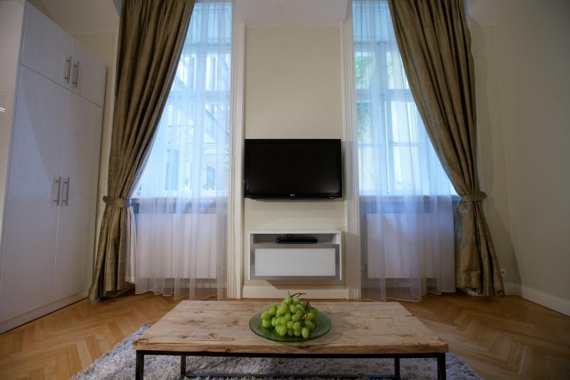 Courtyard Studio Apartment - TV