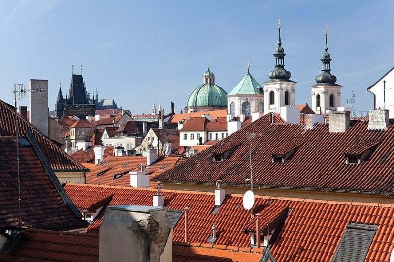Retezova Apartments building - Old Town roofs