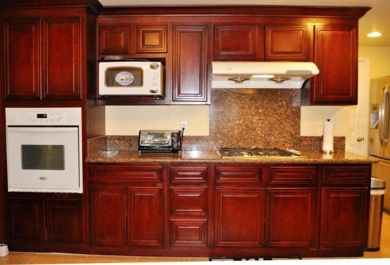 Beautiful granite counter top with build in applicants
