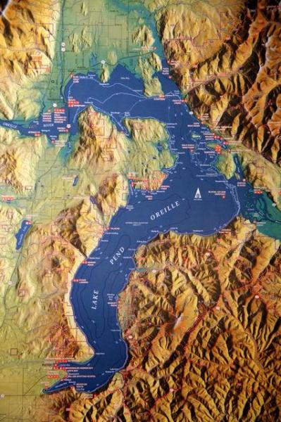 Map of Lake Pend Oreille