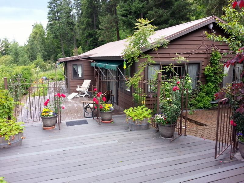 View of guest house and decks