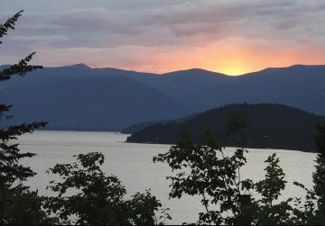 Lake and island view
