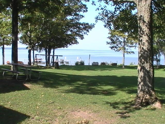 A View of the Lake from the front yard