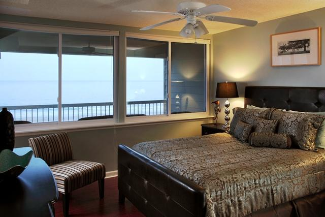 Bedroom with view of ocean