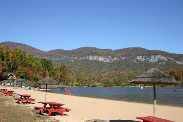 Lake Lure Marina & Beach and the Lake Lure Inn only 3 miles from cabin.