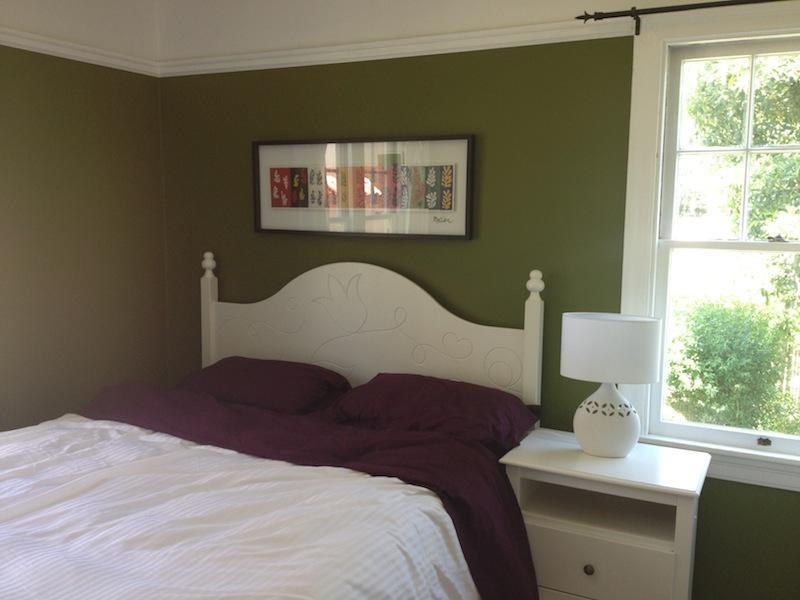 The Green Bedroom, Overlooks the Rear Garden, Features a Comfy Memory Foam Mattress