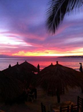 Sunset dinner on the beach Bucerias