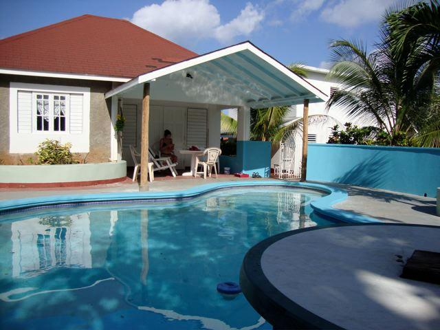 guest house and pool