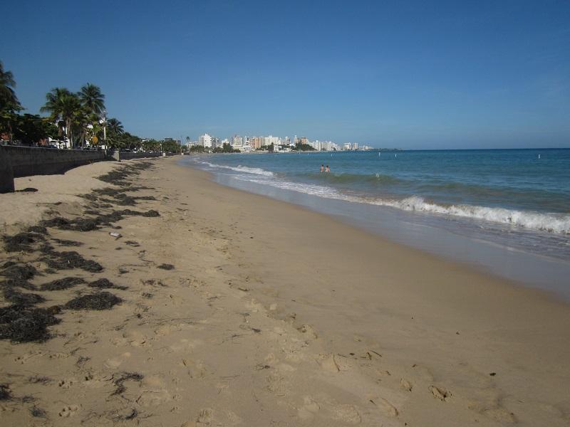 Walk to Condado on a three mile long beach!