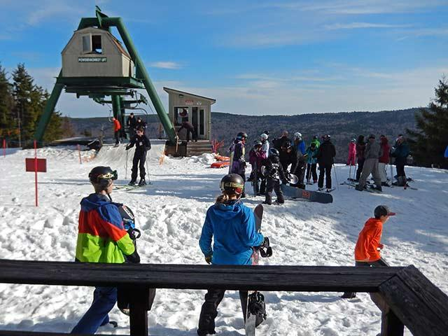 Top Of Powder Monkey Ski Lift from your front deck.