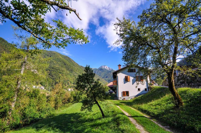 Apartment house in Triglav National Park, Zadlaz, casa vacanza a Slap ob Idrijci