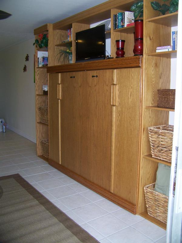 Wall Unit with TV and Murphy Bed