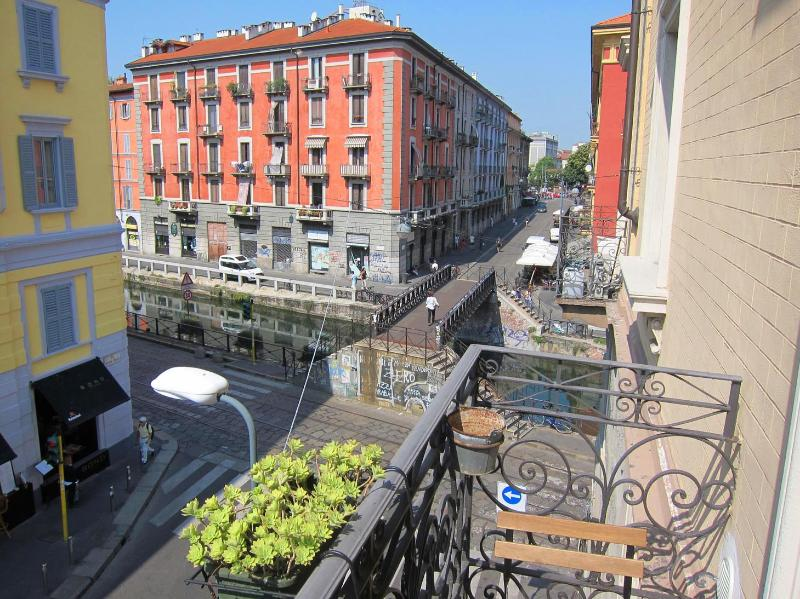 View from the balcony towards the canal