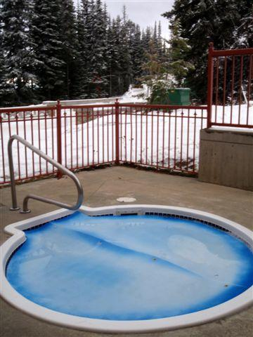 Outdoor shared hot tub